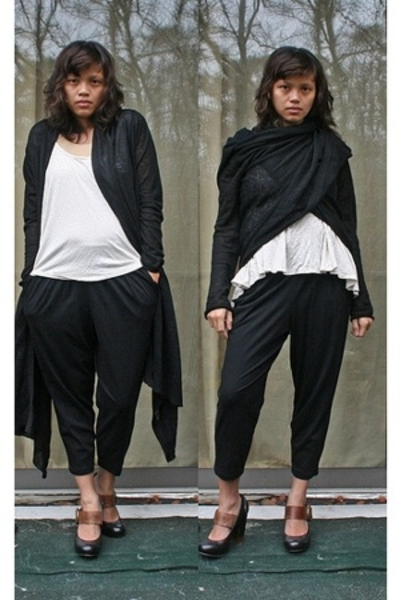 DKNY sweater - Urban Outfitters t-shirt - Express pants - Dolce Vita shoes