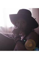 black stetson vintage hat