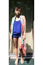 random from Barneys scarf - Ella Moss top - DIY shorts - Matisse shoes