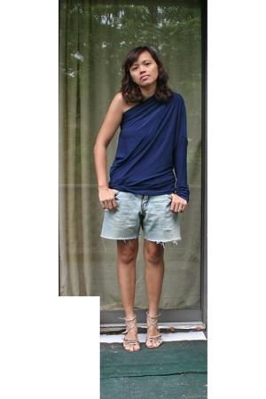 norma kamali  walmart top - DIY shorts - Zara Woman shoes