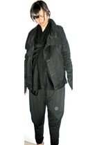 DKNY sweater - Rick Owens jacket - Forever21 pants