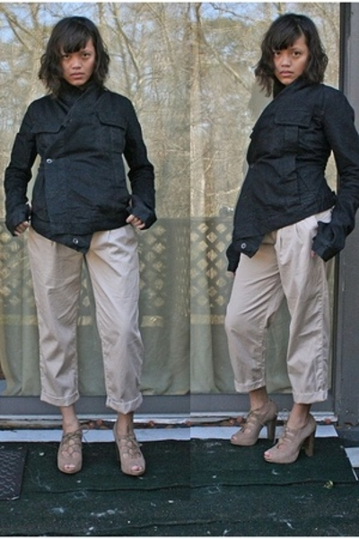 Rick Owens jacket - Express pants - Steve Madden shoes