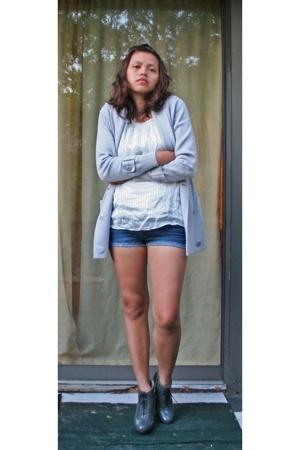 banana republic sweater - Walter blouse - DIY boots - Cynthia Vincent boots