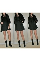 French Connection jacket - Forever21 dress - Guess boots