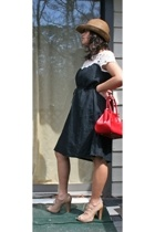 Forever21 hat - FCUK dress - Steve Madden shoes - vintage from switzerland purse