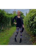 gray streetstyle Primark leggings - black streetstyle new look boots