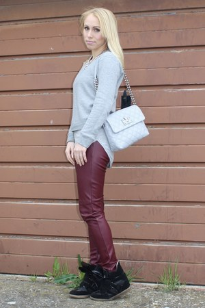 casual H&amp;M sweater - chic Marc Jacobs bag - chic H&amp;M pants