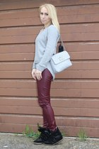 casual H&M sweater - chic Marc Jacobs bag - chic H&M pants