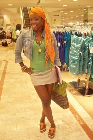 forever 21 scarf - aeropastale shirt - Polo skirt - forever 21 shoes - forever 2