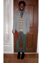 Aldo boots - Express blazer - Old Navy shirt - vintage bag - H&M cardigan - Walm