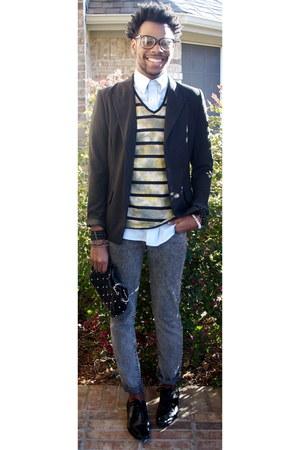Forever 21 jeans - vintage shirt - Standard Cloth t-shirt - Norma Kamali blazer