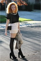 off white Forever 21 skirt - black Forever 21 shoes