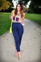 Marni blouse - Mango pants - Zara heels
