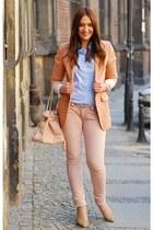 Zara heels - H&M blazer - Zara skirt