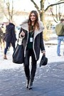 Dark-gray-marks-spencer-coat-dark-green-zara-sweater