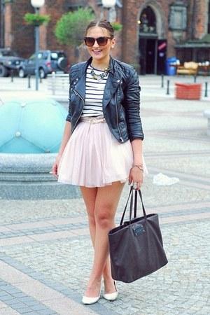 H&M jacket - Mango bag - Zara blouse