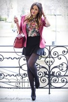 brick red Mango blazer - black Zara heels