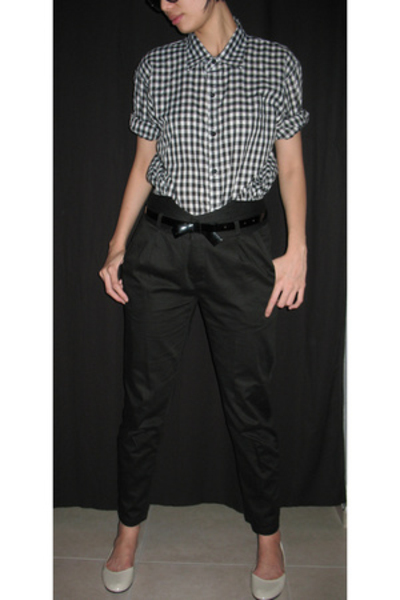flesh imp shirt - DAO highwaist black pants pants - mphosis shoes - belt