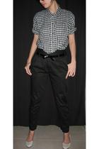 flesh imp shirt - DAO highwaist black pants pants - mphosis shoes - belt