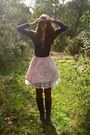 Light-pink-skirt-ivory-childrens-place-skirt-navy-conway-shirt