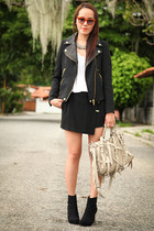 black Zara jacket - beige Alexander Wang bag - black Zara skirt