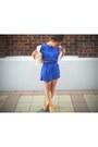 Chunky-suede-novo-heels-silk-checkered-vintage-dress