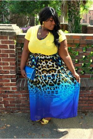 blue maxi chiffon JCP skirt