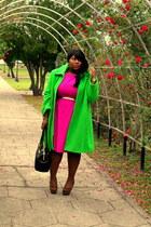 vintage vintage coat - leopard print asos shoes - Jcpenny dress