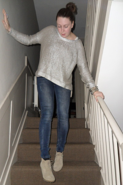 Silver H&m Jumper Ivory