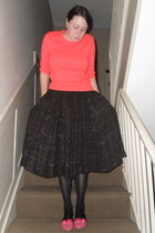 bubble gum Marks & Spencer jumper - dark brown Zara skirt - black Marks & Spence
