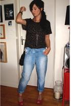 Bel Air jeans - H&M socks - Nine West shoes - Maje top - Yves Saint Laurent purs