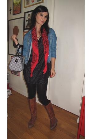 Comptoir des cottoniers jacket - Et Vous scarf - vintage purse - H&M leggings -