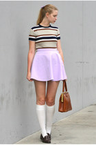 light purple American Apparel skirt - white American Apparel socks