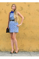 blue vintage dress - navy American Apparel shirt