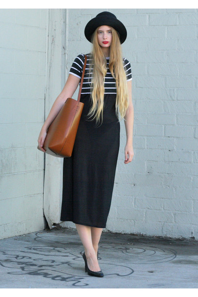 Black-vintage-dress-black-armani-hat-brown-zara-bag_400