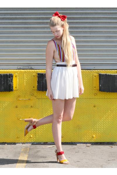 seychelles sandals - American Apparel skirt - American Apparel bodysuit