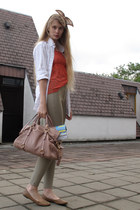 American Apparel shirt - Miu Miu bag - chic flats - American Apparel pants - H&M