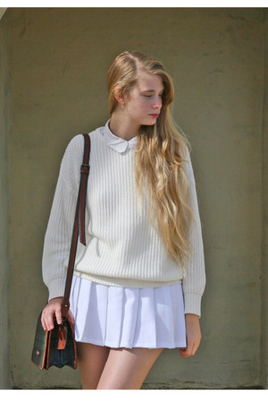 ivory American Apparel sweater - white American Apparel shirt