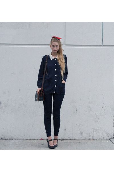 red American Apparel accessories - navy American Apparel jeans