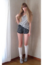 Gray-american-apparel-shorts