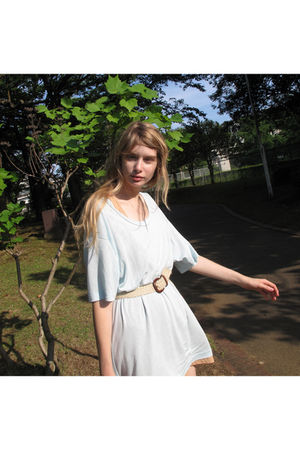 blue American Apparel dress - beige American Apparel dress - beige American Appa