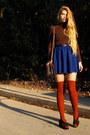 Carrot-orange-american-apparel-socks-blue-american-apparel-skirt