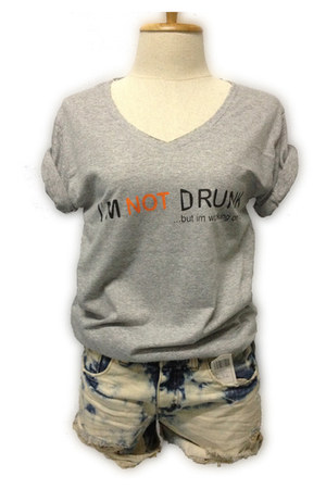 gray funny phrase myChickPea t-shirt