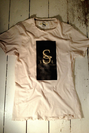 eggshell signature Lost Spirit Lounge t-shirt