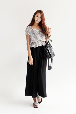 black wide legs Dahong pants