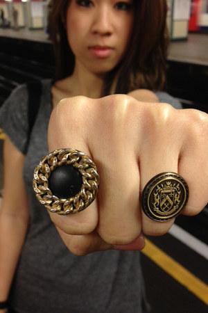 bronze vintage Bitsch Kitsch ring