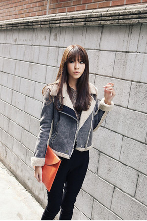 heather gray warm cosy Dahong jacket