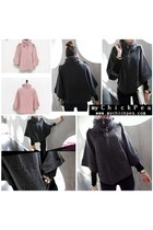 Dark Gray Casual Chic Dahong Capes