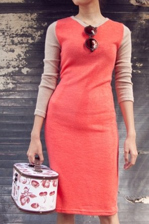 red long sleeve myChickPea dress