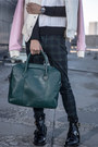 Gold-luvaj-necklace-black-balenciaga-boots-teal-ted-baker-bag